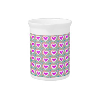 Heart SweetHeart Pink Collection gifts Beverage Pitcher