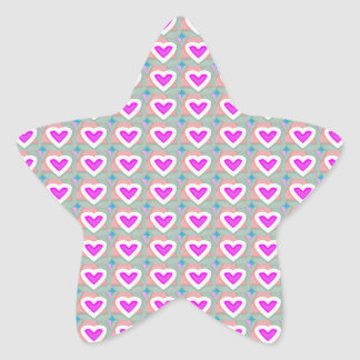 Heart SweetHeart Pink Collection gifts Star Sticker