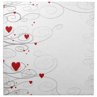 Heart Swirls Napkin