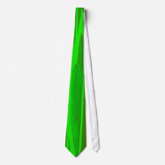 Heart & Swirls Pattern in Lime Green and Dark Gree Tie