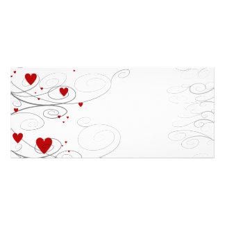 Heart Swirls Rack Card Design
