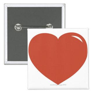 Heart Symbol 15 Cm Square Badge