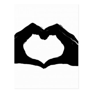 Heart Symbol made with Hands Postcard
