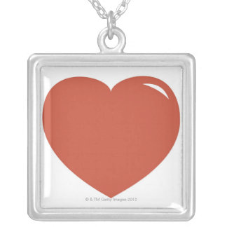 Heart Symbol Silver Plated Necklace