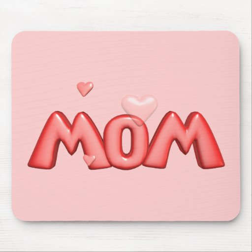 Heart T-shirts and Gifts For Mom Mouse Pads