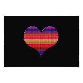 Heart Tapestry Design Photo Print