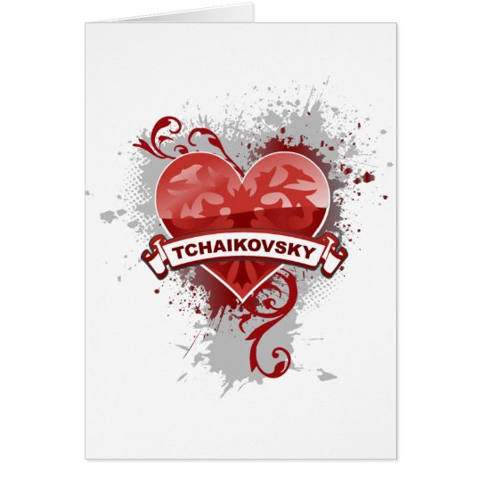 Heart Tchaikovsky Card