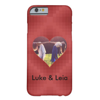 Heart template red barely there iPhone 6 case