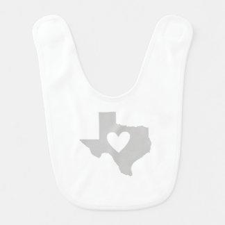 Heart Texas state silhouette Bib