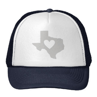 Heart Texas state silhouette Trucker Hat