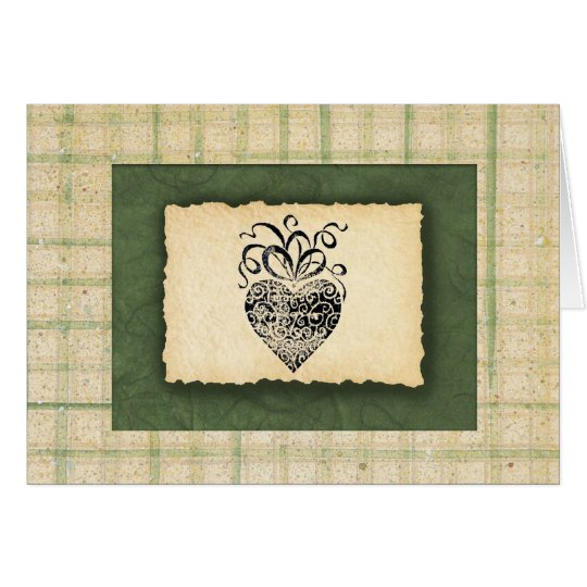 Heart Thank You Card (Large Print)