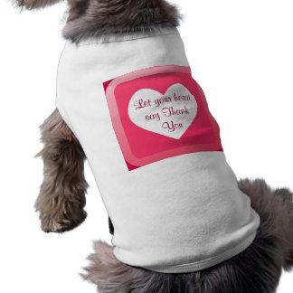 heart Thank You dog shirt