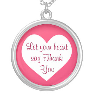 heart Thank You necklace