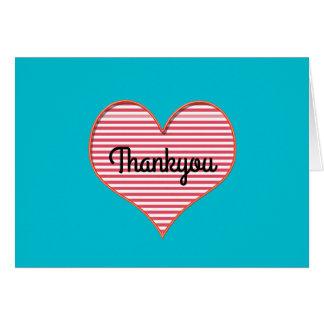 Heart themed thankyou card