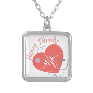 Heart Throbs Square Pendant Necklace