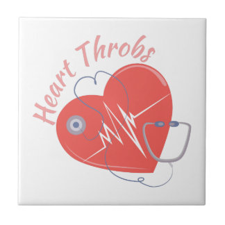 Heart Throbs Small Square Tile