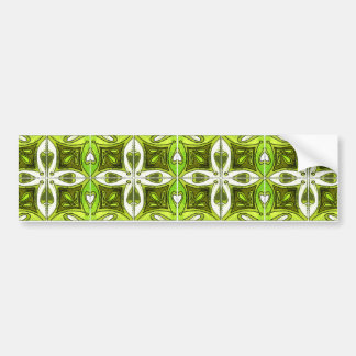 Heart Tiles Inspired by Portuguese Azulejos Green Bumper Sticker