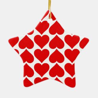 Heart tiles love cool ceramic star decoration