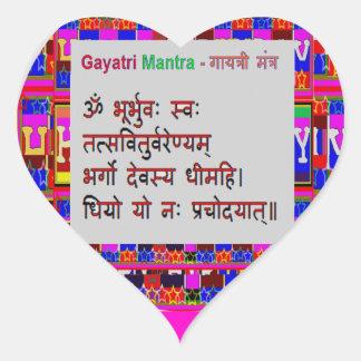 HEART to HEART - Om Gayatri Mantra Heart Sticker