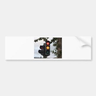 Heart traffic light bumper sticker