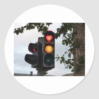 Heart traffic light stickers