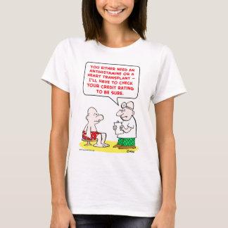 heart transplant credit rating T-Shirt
