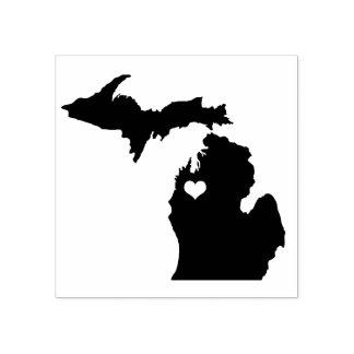 Heart Traverse City Michigan Rubber Stamp