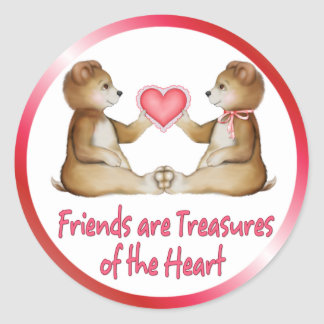 Heart Treasures Round Sticker