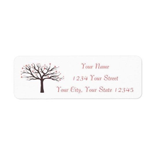 Heart Tree Address Label