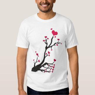 heart tree black tshirts