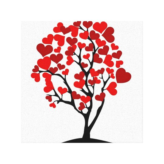 Heart tree canvas
