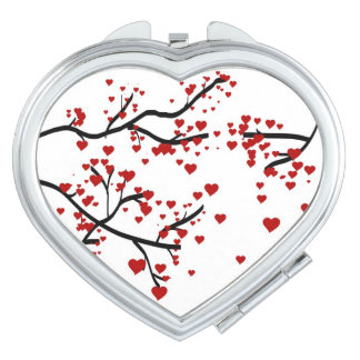 Heart Tree Compact Compact Mirrors