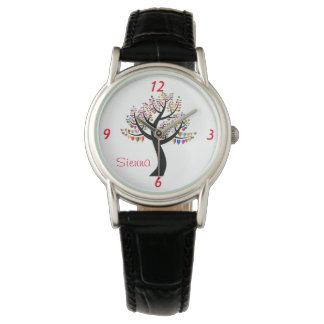 Heart Tree Love Watch With Numbers Name