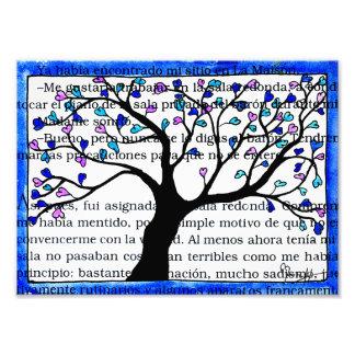 Heart Tree on Spanish Text Photo Print