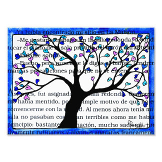 Heart Tree on Spanish Text Photograph