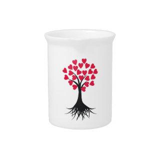 Heart Tree Beverage Pitcher