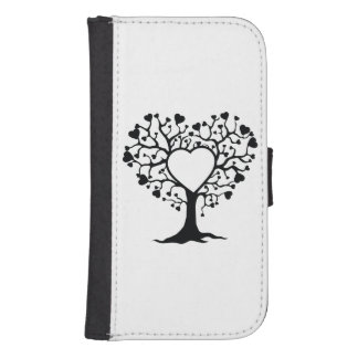 Heart Tree Phone Wallet Cases