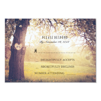 Heart Tree Wedding RSVP Card