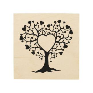 Heart Tree Wood Canvas