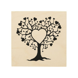 Heart Tree Wood Canvases