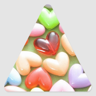 heart triangle sticker