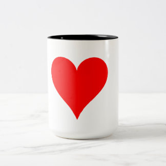 Heart Two-Tone Coffee Mug