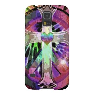 Heart Tye Dye Cross Galaxy S5 Cover