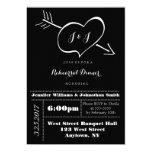 Heart Typography Rehearsal Dinner Invitations