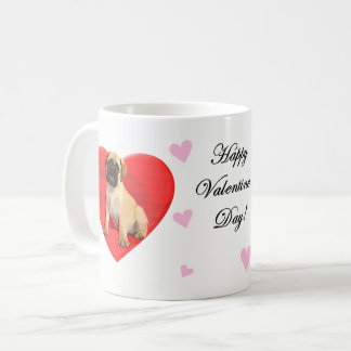 Heart Valentines Bullmastiff coffee mug