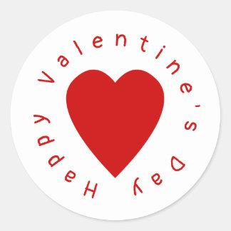 Heart Valentine's Day Classic Round Sticker