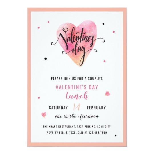 Heart Valentine's Day Invitation