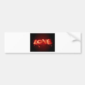 Heart Valentines design Car Bumper Sticker