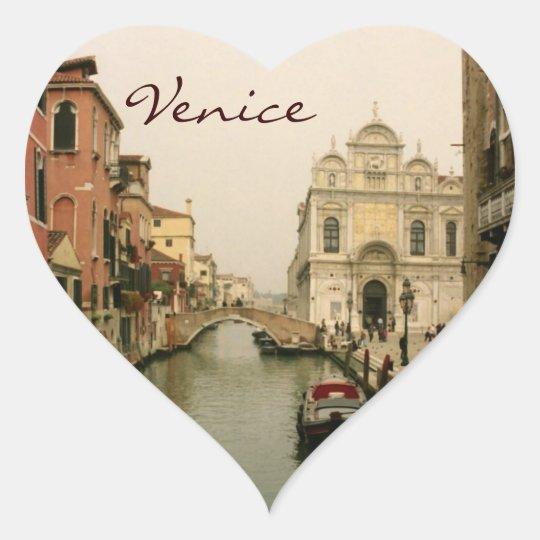 Heart Venice Photo Stickers