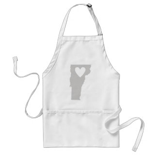 Heart Vermont state silhouette Standard Apron